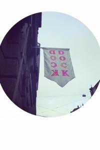 Fahne DOCKArchiv, Diskurs- und Kunstraum